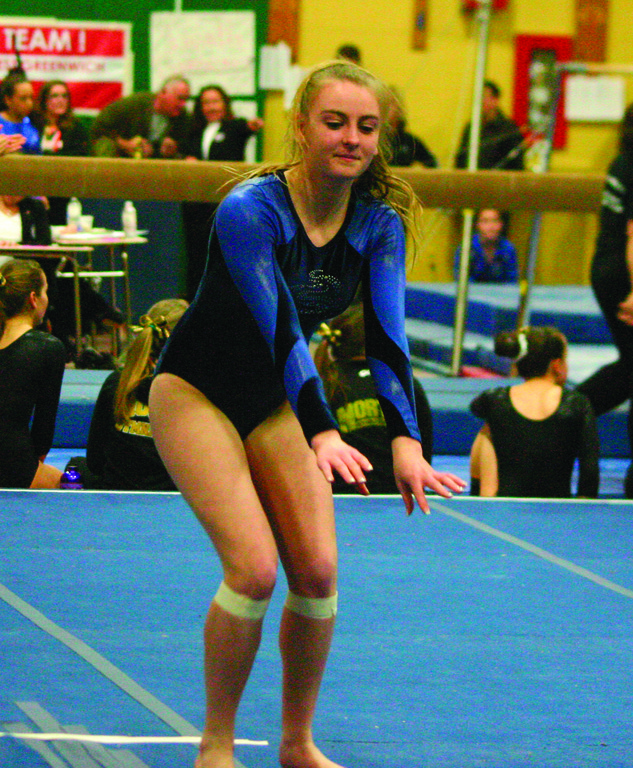 Toll Gate's Katelyn Foeller goes through her floor routine.