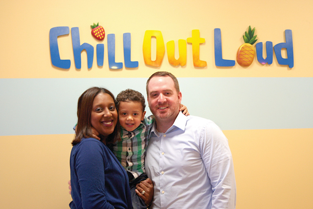 FAMILY BUSINESS: Ana and Rick Loud, pictured with their 3-year-old son Manny, opened Chill Out Loud in the hopes that it would provide a family-friendly place for Warwick residents and visitors alike.