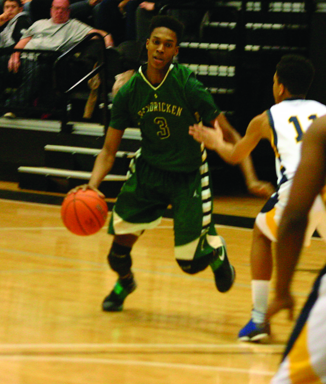 MAKING THE MOVE: Hendricken's Will Tavares heads for the lane on Sunday against Hope.