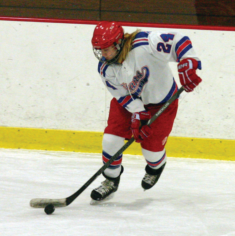 ON THE GO: Above, Kelsey Holmes moves up the ice.