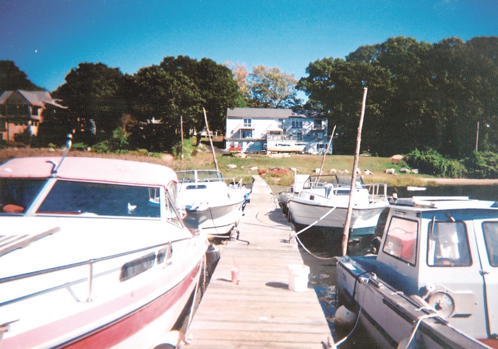 DOCK IN QUESTION: In a photo provided by Bill Baxter, boats line the dock that he and others would like to see sanctioned.