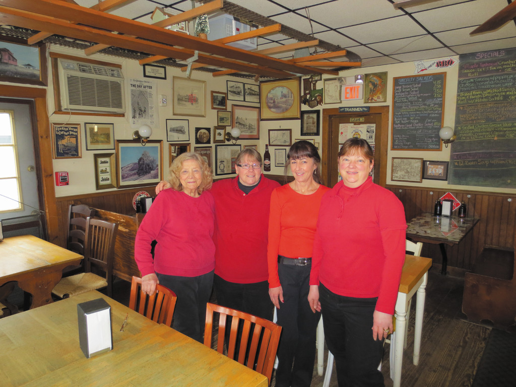 "Meet the close-knit team at Sandwich Junction, including ""mom"" Nancy Longiaru, Chris Luiz, Marie Lucier and owner Kathy Ruginski."