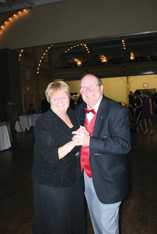 "DANCING THE NIGHT AWAY: Nancy and Bill Plumb dance during the ""Charting Our Course"" Gala. Bill Plumb served as a co-chair of the event and is a past commodore (1977) of the Edgewood Yacht Club."