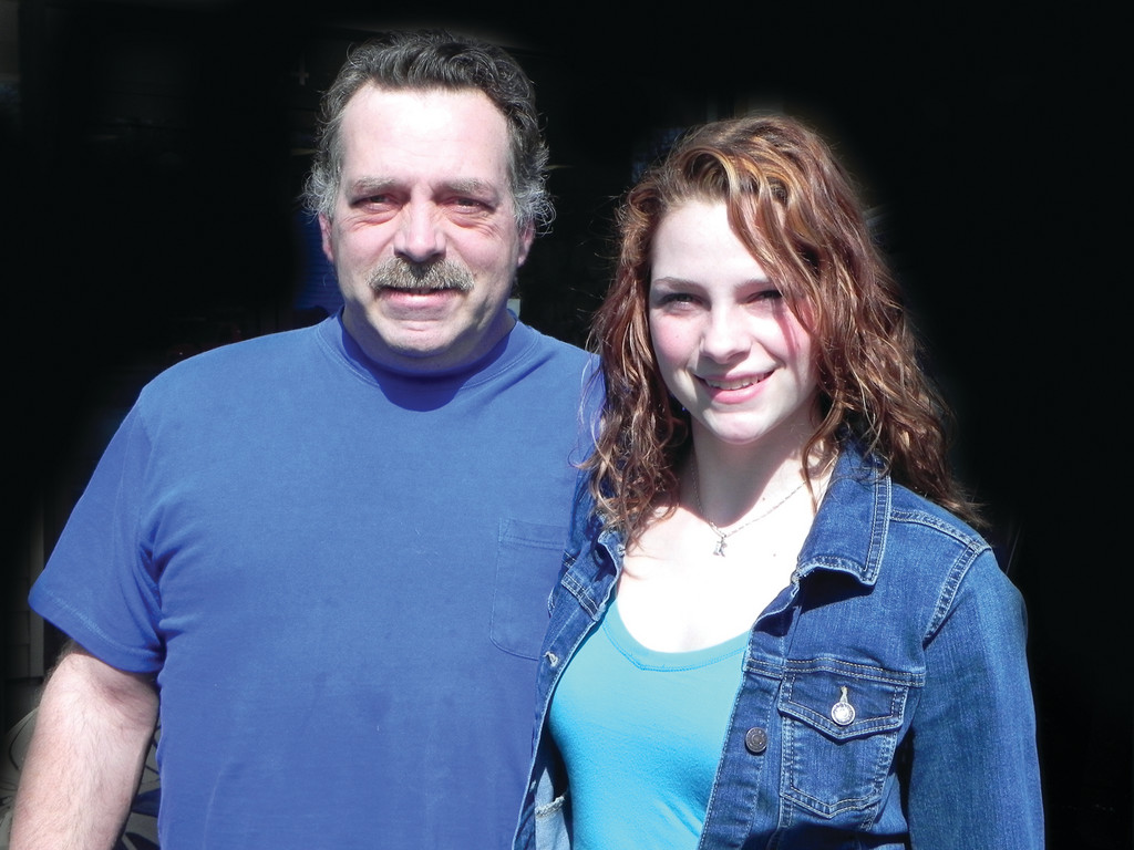 LIKE FATHER, LIKE DAUGHTER: Former stock car driver Norman Levesque has watched his little girl grow into a determined racer herself. Kendra Levesque starts her mini-cup season at Seekonk Speedway in May but the 16-year-old will have to wait to drive on the street. She gets her learner's permit this week.