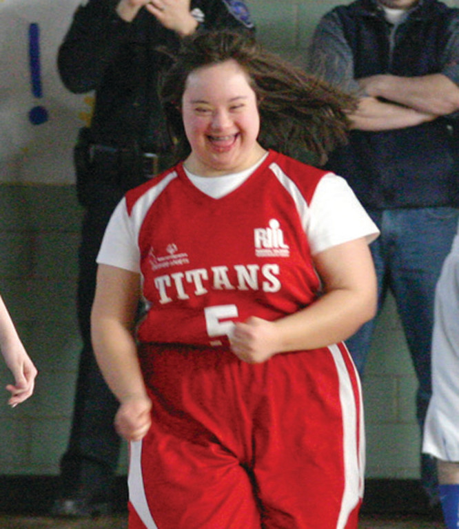 BIG MOMENT: Danielle Roberts celebrates after making a shot for Toll Gate during Wednesday�s game.