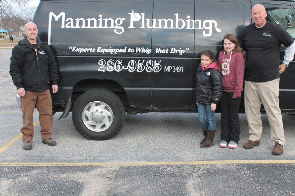 Meet Michael Manning (left) with his daughters Makenzie, Alexis and business partner Chet Sutphen.  Watch for his signature truck in your neighborhood.