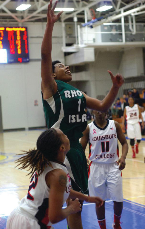 Jahira Smith releases a shot in the lane.
