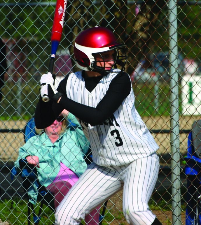 GEARING UP: Pilgrim's Katelyn Reph waits for a pitch during a game last season. Reph is one of several returning starters looking to continue Pilgrim's run of steady improvement.