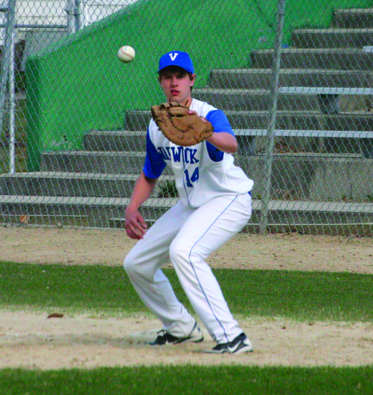 WATCHING IT IN: Danny Greaves, pictured last year, will take on a bigger role as an experienced pitcher this season.