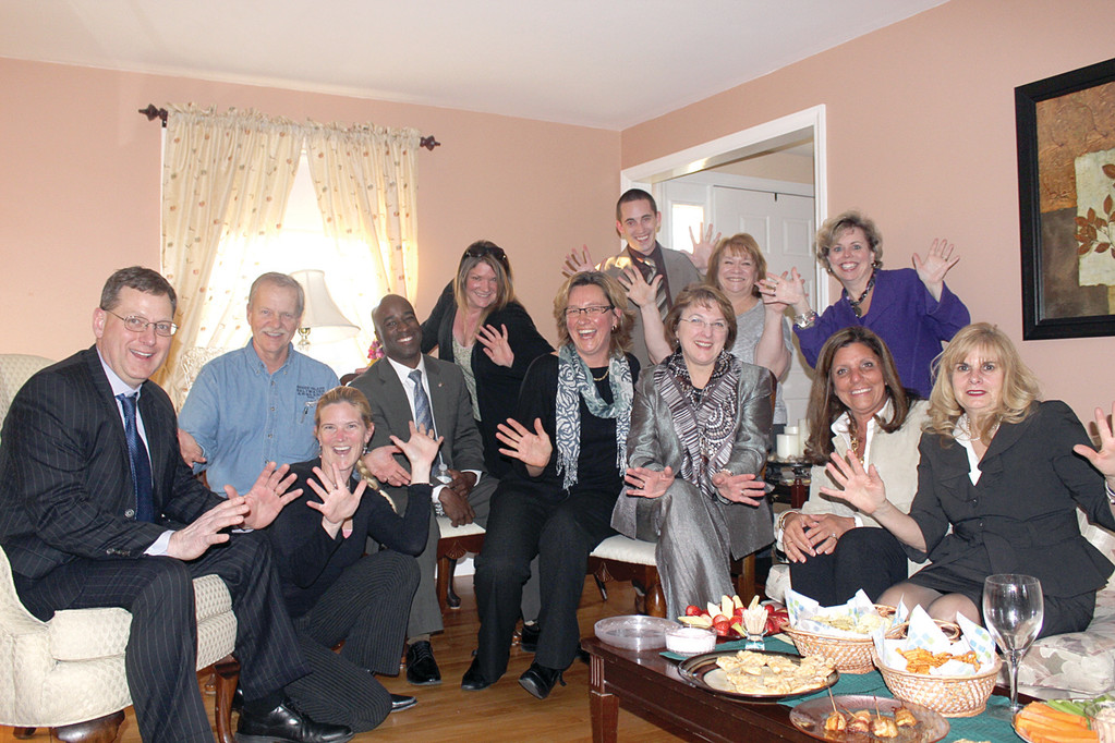 JAZZ HANDS & HELPING HANDS: Participants of the seventh annual Dancing with the Stars of Mentoring recently gathered to meet their competition and gear up for the event, which will take place from 5:30 to 9:30 p.m. on April 25 at Rhodes on the Pawtuxet in Cranston.