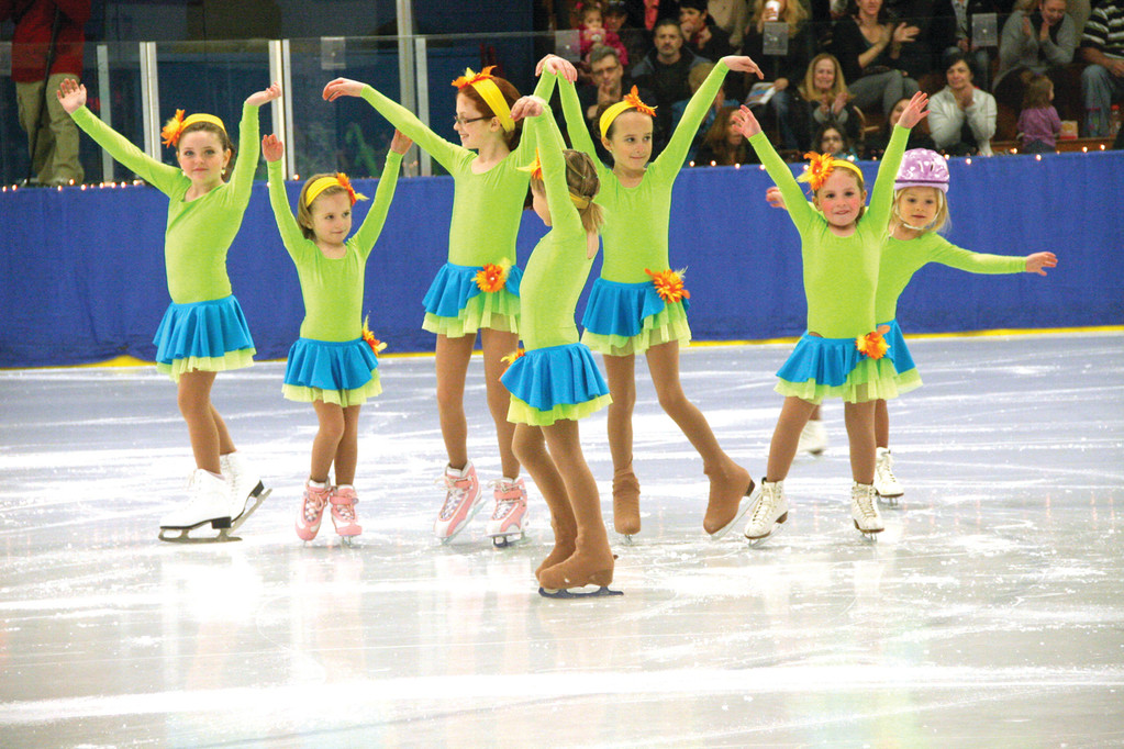 YOUNGEST ON ICE: The incoming crop of figure skaters, the youngest of whom is 4 years old, closes their number.