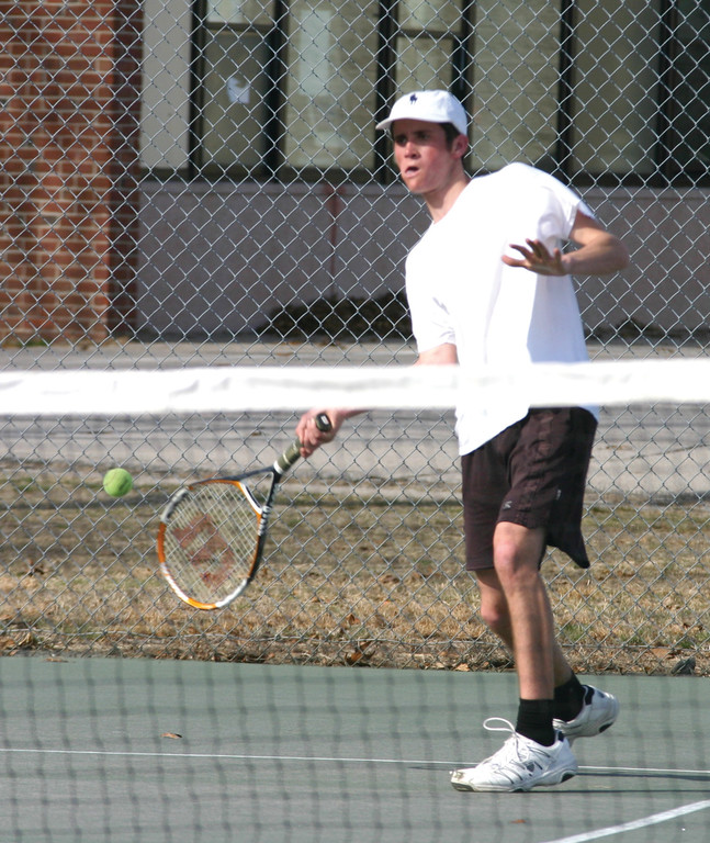HEAD OF THE PACK: Senior Thomas Greenberg is jumping from No. 2 singles to No. 1 singles this season.