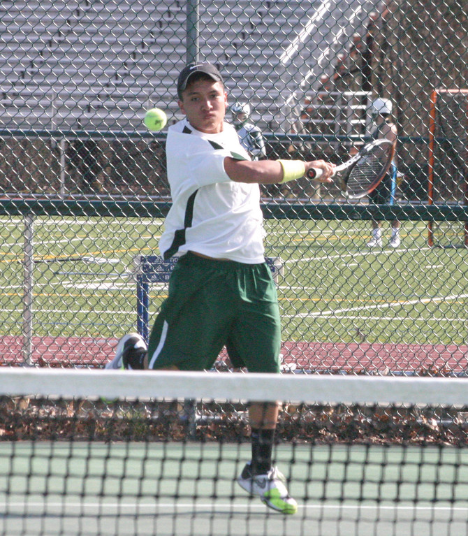 FILLIGN THE VOID: Junior Carlos Arciniegas is stepping in as the Hawks' No. 1 singles player this season.