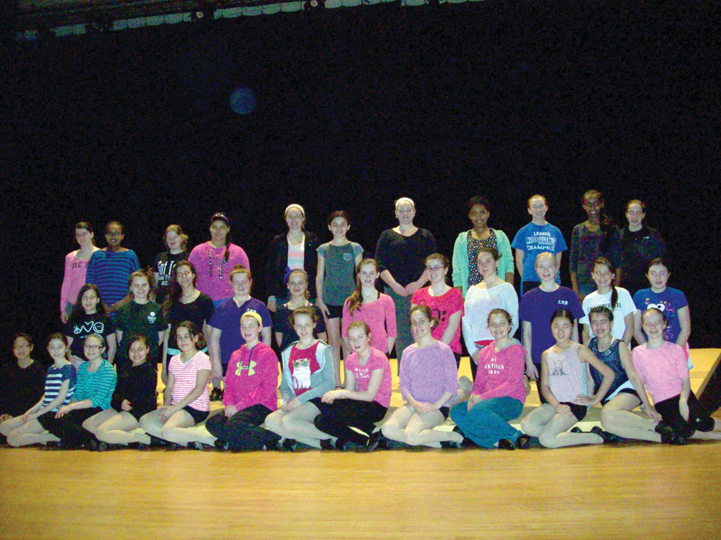 GRADES FIVE TO EIGHT: The students at the middle school level are featured in the show alongside the high school students.