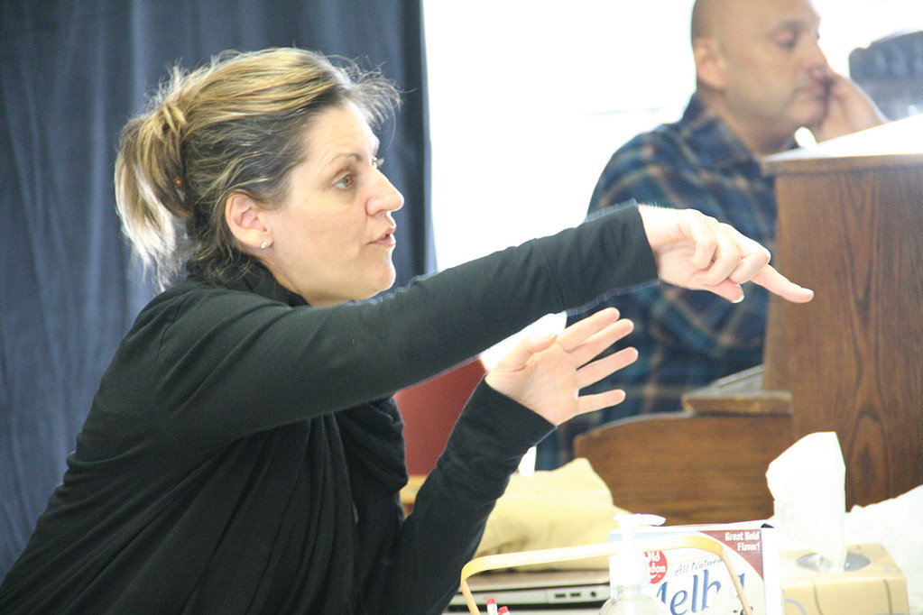 OSTC Producing Artistic Director Aimee Turner gives instructions during a recent rehearsal.