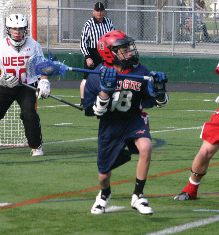 SEARCHING: Anthony Ottone gets set to make a pass during Friday's game against Cranston West.