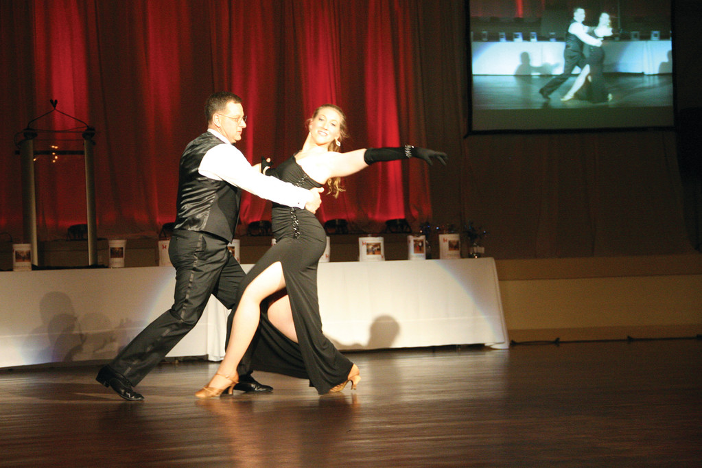 Sean Feeney with dance partner Rachael Capodanno.