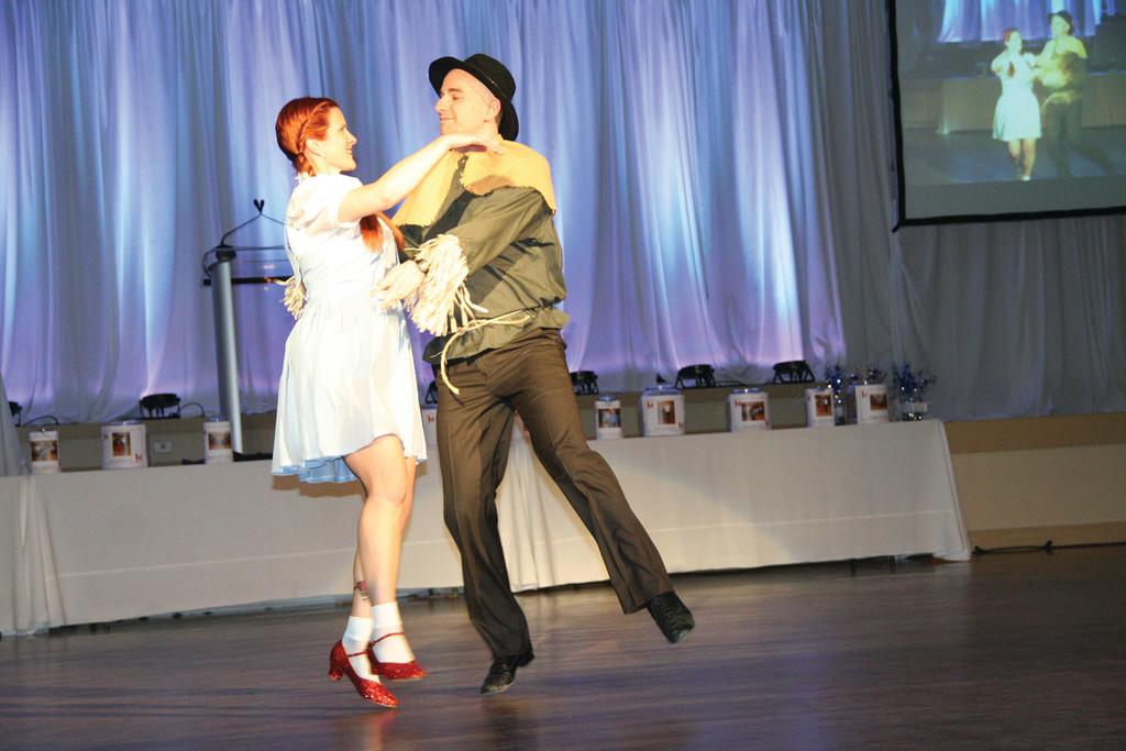 Laurie Connors with dance partner Josh Morgenstein.