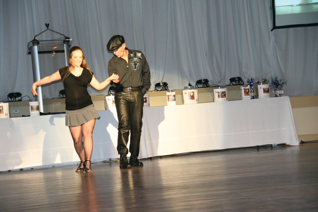 Rich Hittinger with dance partner Brianna Faiola
