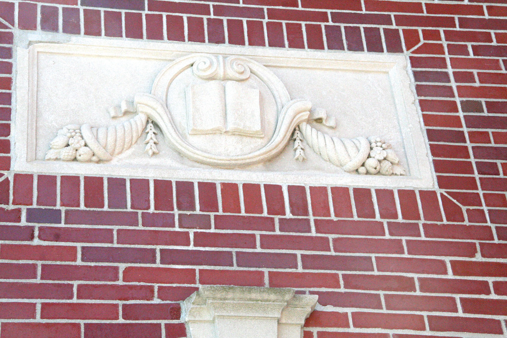 ORNAMENTAL TOUCH: Warwick Fire Chief Edmund Armstrong says he will seek to save some of the decorative features from the school when it is demolished.