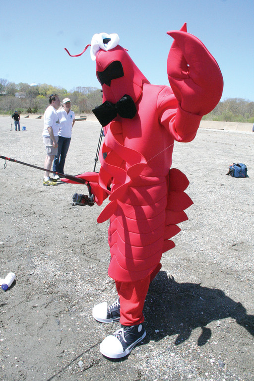 The �Rocky Point lobsta� gives fishing a try.