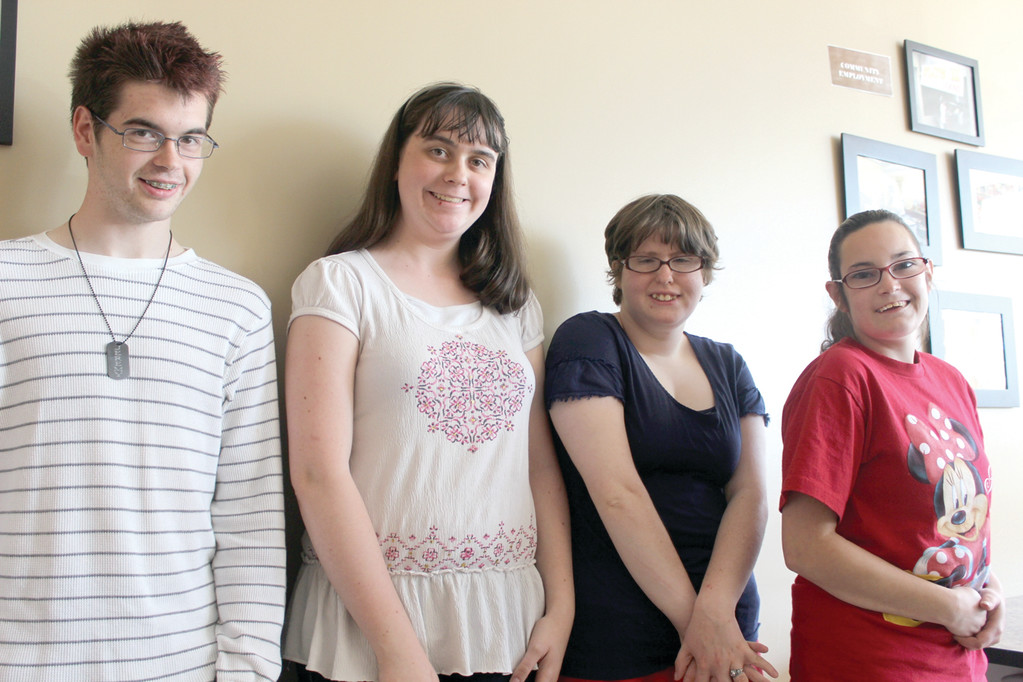 POISED FOR THE PROM: For the second consecutive year, the Trudeau Center is hosting a prom for clients, with this year's event set for tomorrow. From left, Jeremy Nardella, Michela Lombari, Sarah High and Caitlyn Blaine said they are looking forward to it.