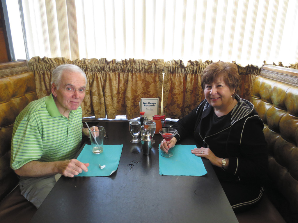 There is a booth waiting here just for Joan and Frank Simonini - and you - right here at Jade Dragon Restaurant on Warwick Avenue.