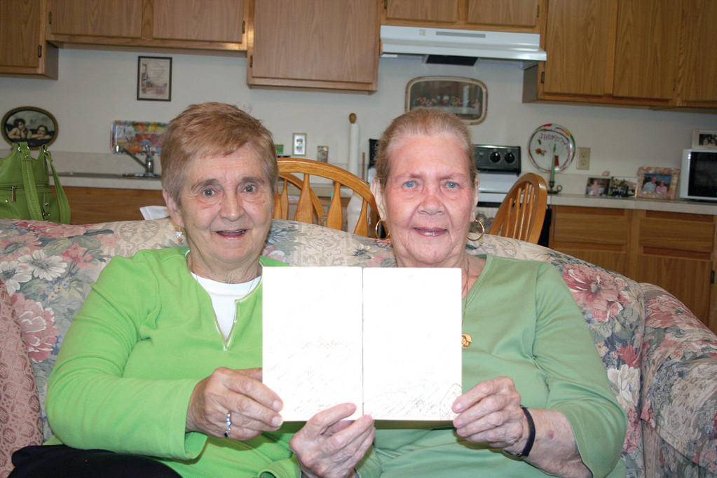 ENDURING FRIENDSHIP: Saundra DiPetrillo Mahoney and Kathleen Danti have been friends for more than 60 years. For the past 25 years of that friendship, they have sent the same birthday card back and forth to one another.
