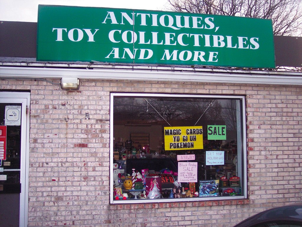 Look for this familiar storefront on West Shore Road, home of Antiques, Toy Collectibles & More.