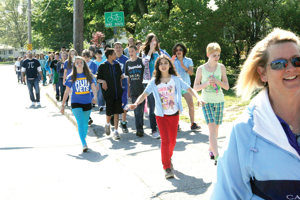 REASON TO CELEBRATE: Even if the School Committee voted to close Gorton, the school would have still held its anti-bullying walk. The decision to keep the school open at least for another year made it especially sweet.