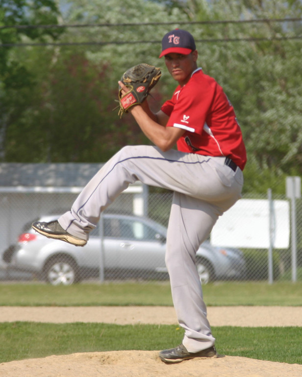 WIND UP: Junior Rivas pitched well for the Titans, but he got little run support in a 2-1 loss.