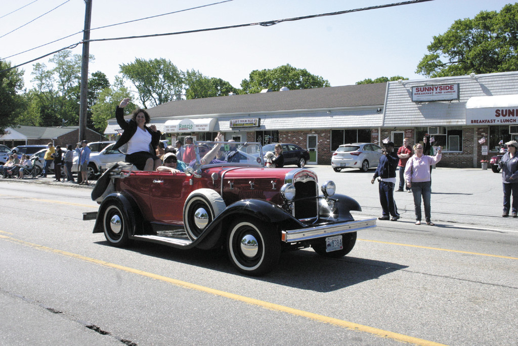 A TRULY GRAND MARSHAL: Cindy Paulo, a Rhode Island National Guard Veteran who served in Iraq in 2007 and 2008 with 169th Military Police Company as a combat medic, said she was honored to serve as the parade's Grand Marshal.