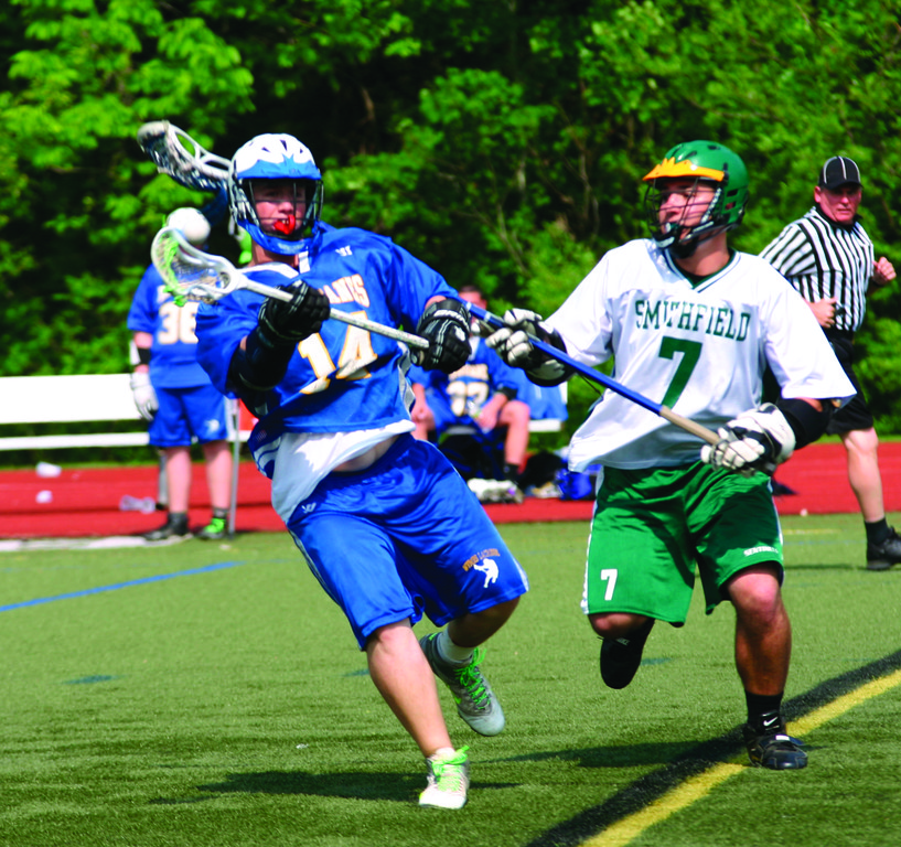 MOVING QUICK: Nate Brotman makes a pass during Vets� 10-4 loss to Smithfield on Wednesday in the D-III semifinals.