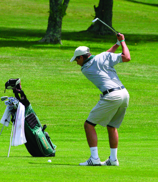 CONTENDING: Hendricken's Justin Matrone shot a two-day total of 151, just four shots back of champion John Kraunelis of Barrington.