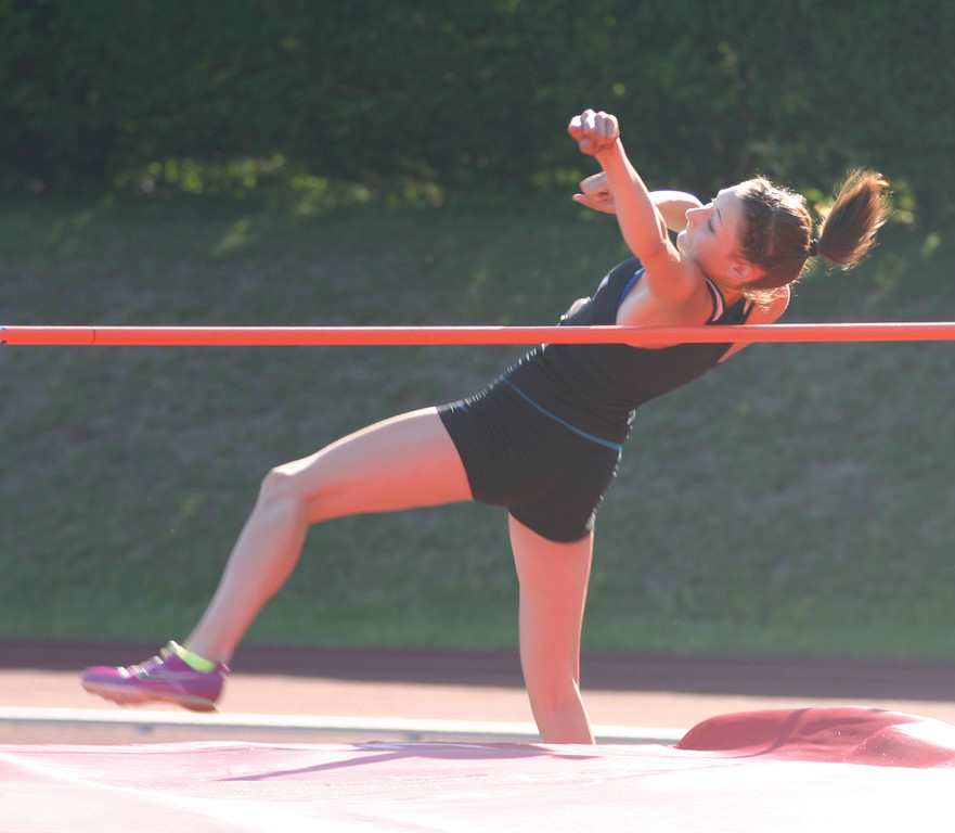 Pilgrim�s Melanie Brunelle took third in the high jump.