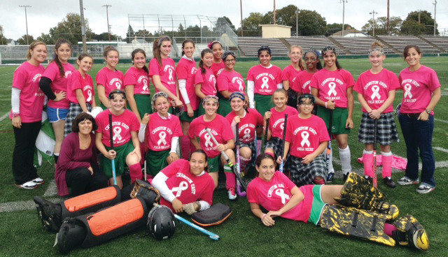 ALWAYS THE TEACHER: Fonseca is retired, but last year, students from her former employer, Cranston East, held a charity field hockey game to support her team, Keeping the Pace with Dianne.