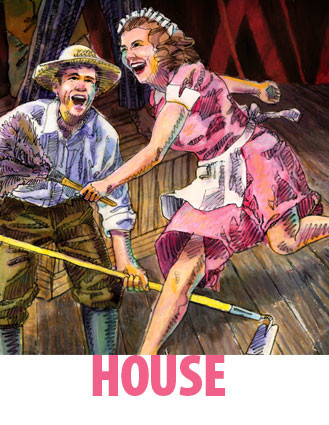 "ON STAGE NOW: Trinity Rep's poster for ""House."""