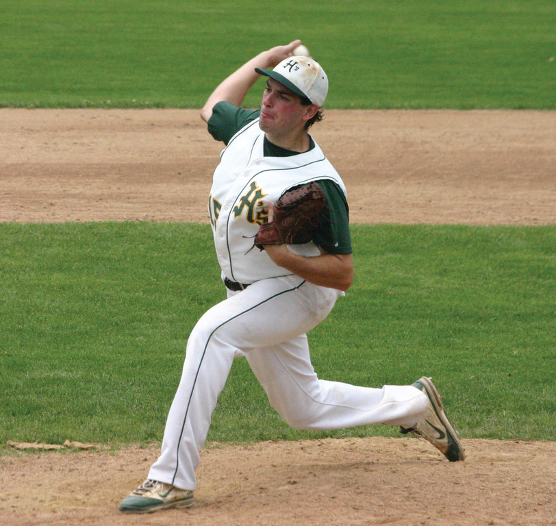 DEALING: Dillon Manfredi picked up the win for Hendricken Sunday, helping the Hawks advance to the state finals.