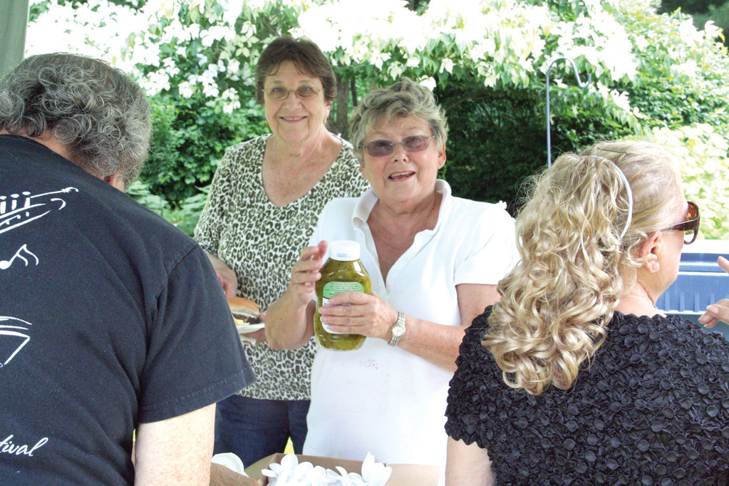 PICNIC HOST: Mary Ann Collinson has hosted the picnics at her Warwick Neck home ever since her parents suggested it more than 10 years ago.