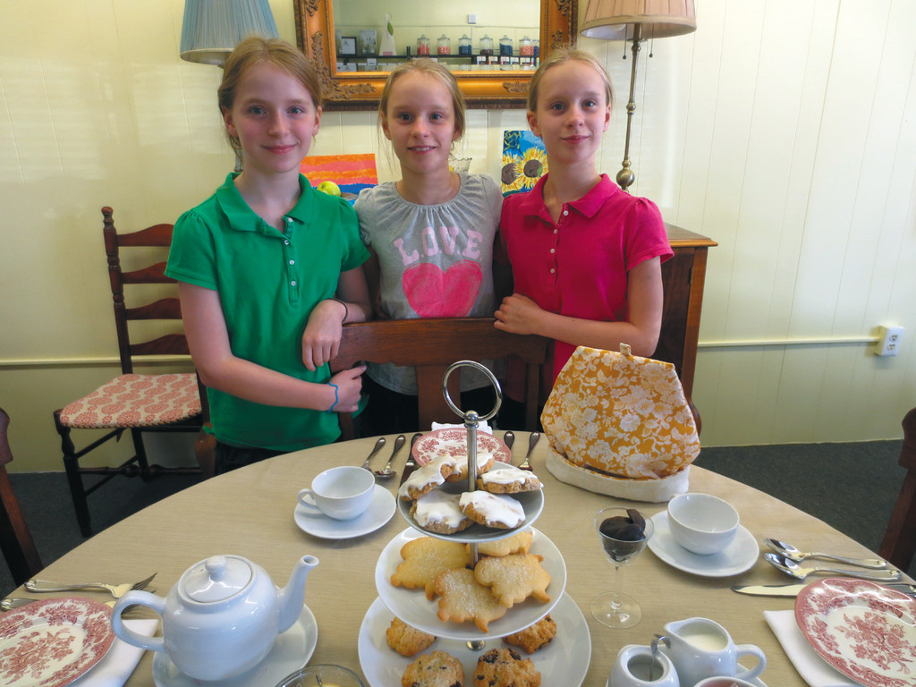 Annabelle, Alice and Lily McMahon welcome you to Trinity Confections in Warwick, and wish their parents a Happy 12th Anniversary.