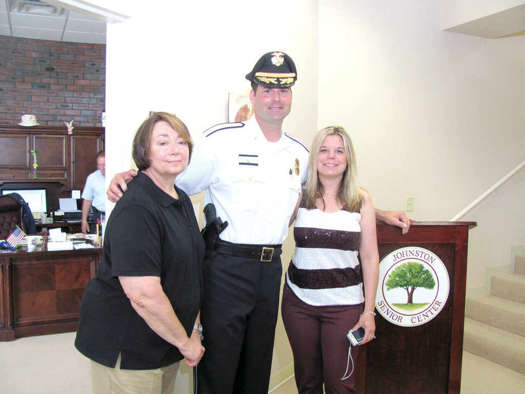 It was a proud day for the Razza family – the new Major's wife Mandi, sister Karen and mother Joan – as their favorite police officer was sworn in after achieving the highest rank of his 18-year Johnston Police Department career.