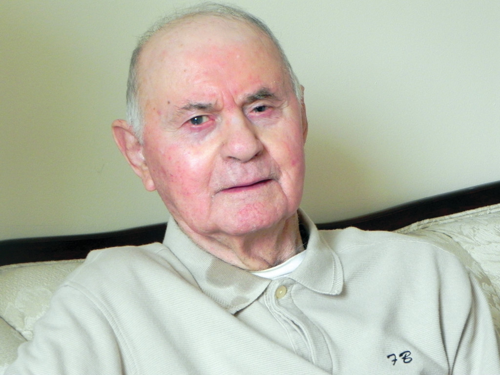 CAPTIVATING TALE: Cranston resident Frank Benassi has just published his memoir of being an Italian soldier and prisoner of war before he came to this country for good in 1948.