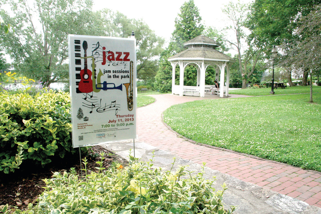 "A HAPPENING PLACE: Pawtuzet Park is the site of a number of planned activities this summer starting with a ""jazz jam"" on July 11."