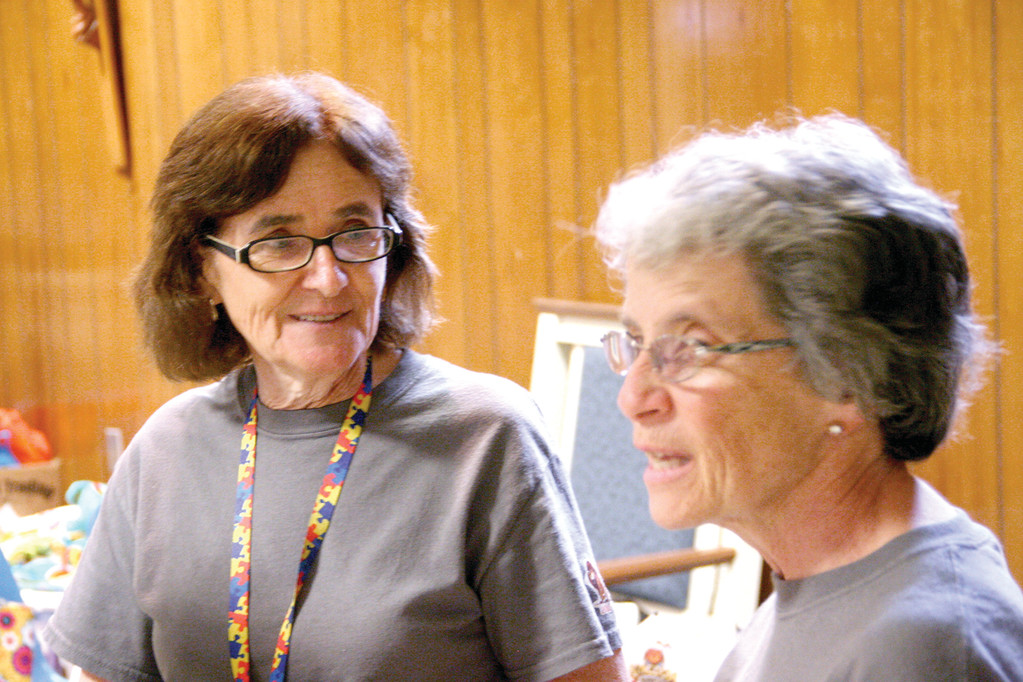 Camp Founder and Director Margaret Andreozzi at left.