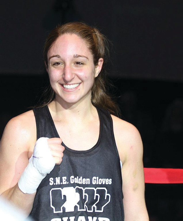 BACK FOR MORE: Destiny Chearino, pictured after winning the New Englan Golden Gloves, is competing for a national title next week.