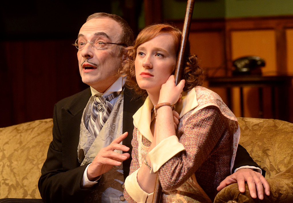 "Vince Petronio and Erin Elliott in ""The Mousetrap."""