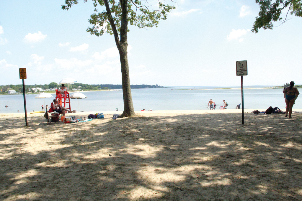 DEFYING THE ODDS: City Park beach has remained open more consistently than Oakland Beach, even though both of them face Greenwich Bay.