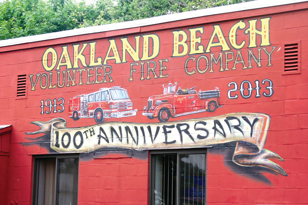 THE FINISHED PRODUCT: The OBVF's mural in its finished state on the side of its 645 Oakland Beach Avenue location.