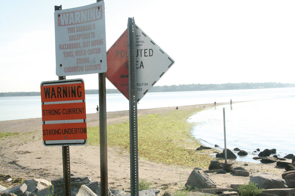 WARNING: These signs serve as the warning to the point's currents.