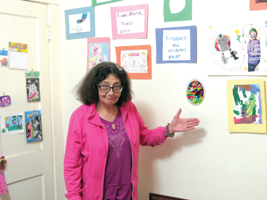 FINDING INNER PEACE: After surviving a childhood of trauma and 93 stays in mental hospitals, Kayla Doherty found an outlet through art and hopes to help women and children who are suffering with free art therapy classes.